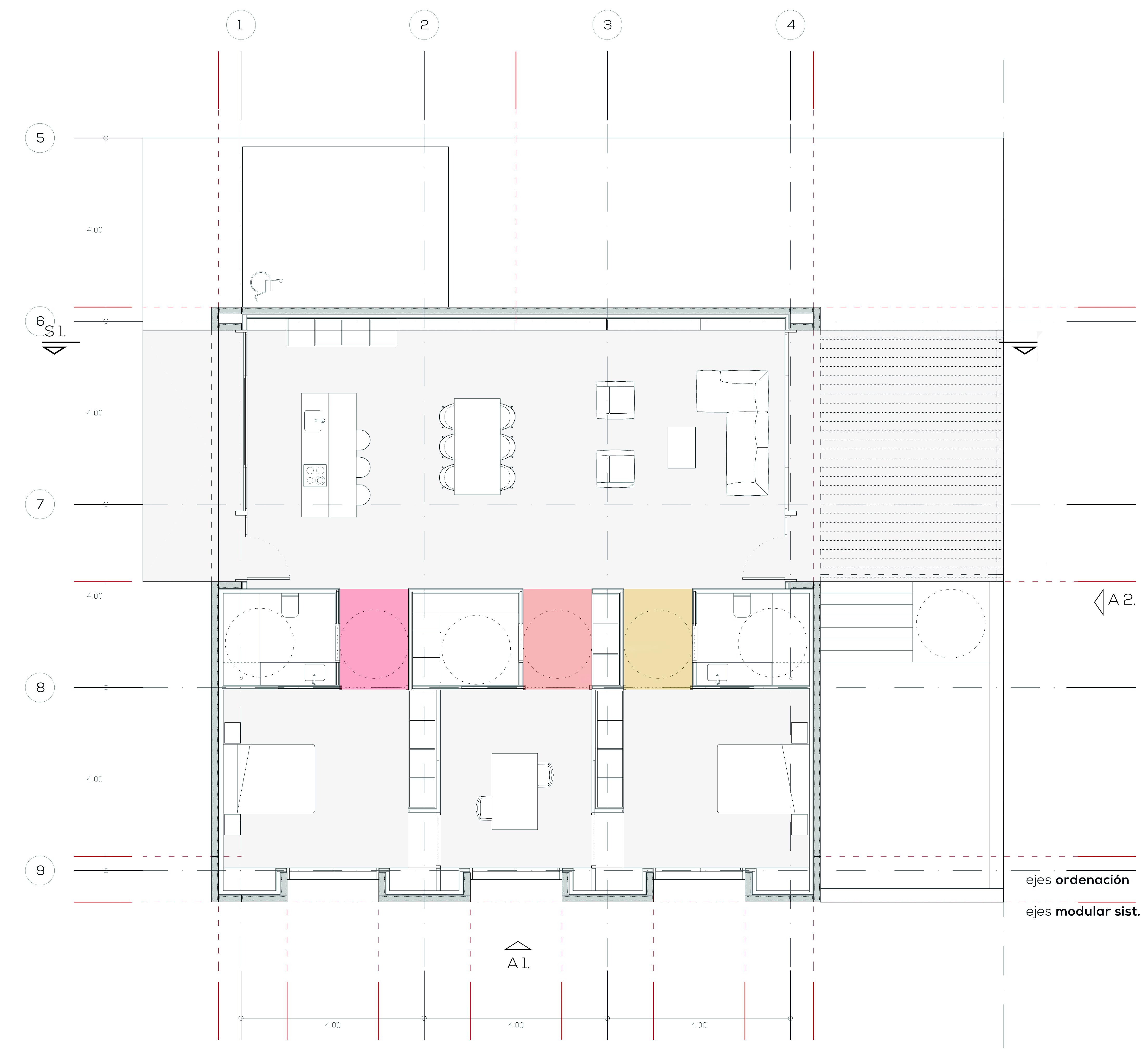 Estudio13_CasaM-Modular Home Adapta-Planta
